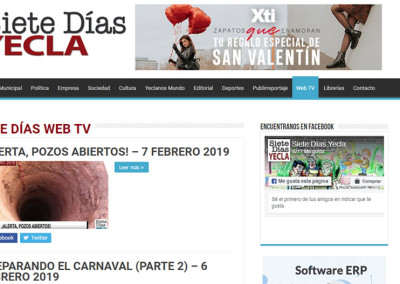 Web TV Siete Días Yecla