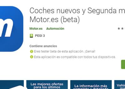 Mejor app: Coches nuevos y Segunda mano – Motor.es