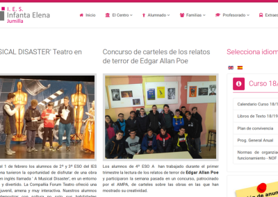 Mejor web asociativa: IES Infanta Elena