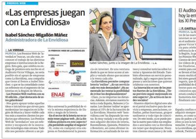 Isabel Sánchez: «Las empresas juegan con La Envidiosa»