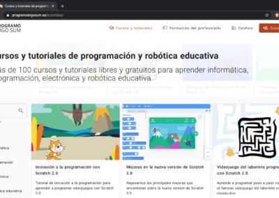 Tutoriales gratuitos de programación y robótica