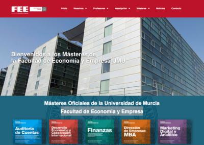 Web Másteres Oficiales de la Universidad de Murcia