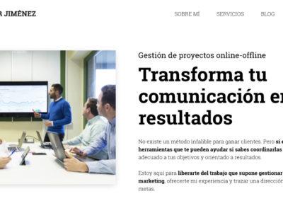 Javier Jiménez Ortiz – Gestor de proyectos online y offline